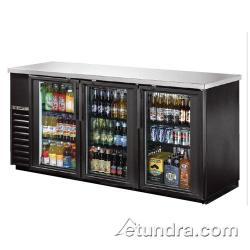 True - TBB-24-72G-LD - 73 in Back Bar Cooler w/ 3 Glass Doors image