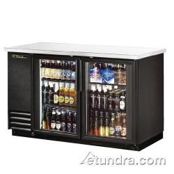 True - TBB-2G-LD - 59 in Back Bar Cooler w/ 2 Glass Doors image