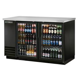 True - TBB-2G-HC-LD - 59 in Back Bar Cooler w/ 2 Glass Swing Doors image