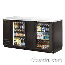 True - TBB-3G-LD - 69 in Back Bar Cooler w/ 2 Glass Doors image