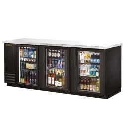 True - TBB-4G-LD - 91 in Back Bar Cooler w/ 3 Glass Doors image