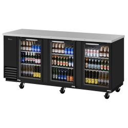 Turbo Air - TBB-4SG-N - 90 in Back Bar Cooler w/ 3 Glass Doors image