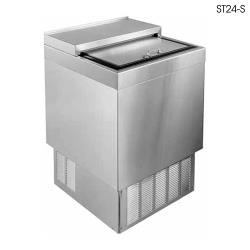 "Glastender - ST24-SFG - 24"" Stainless Front/Sides Bottle Cooler w/Galvanized Interior image"