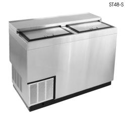 Glastender - ST48-SFG - 48 in Stainless Bottle Cooler w/Galvanized Interior image