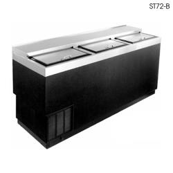 "Glastender - ST72-B - 72"" Vinyl-Clad Bottle Cooler w/Stainless Interior image"