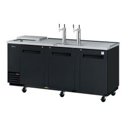 Turbo Air - TCB-4SB-N - 90 in Black Club Top Beer Dispenser image