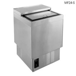 "Glastender - MF24-SF2 - 2-Shelf 24"" Stainless Front/Sides Mug Froster image"