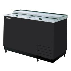 Turbo Air - TBC-50SB-GF - 50 in 2 Lid Black Glass Chiller image