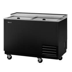 Turbo Air - TBC-50SB-GF-N - 50 in 2-Lid Black Glass Chiller image