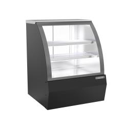 Beverage Air - CDR3HC-1-B-D - 37 in Black Dry Curved Deli Case image