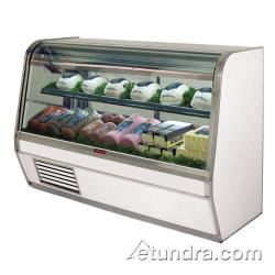 "Howard McCray - SC-CDS32E-6C-LS - 74"" x 50 1/2"" White Deli Case image"