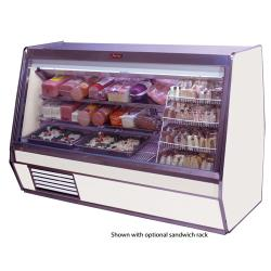 Howard McCray - SC-CDS32E-8-LED - 98 in x 49 3/5 in White Deli Case image