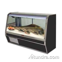"Howard McCray - SC-CFS32E-8C-B - 98"" x 50 1/2"" Black Fish/Poultry Case image"
