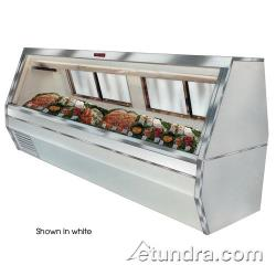 "Howard McCray - SC-CFS35-6-B - 71"" Black Double Duty Fish/Poultry Case image"