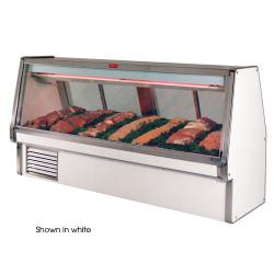 "Howard McCray - SC-CMS34E-12-B - 148 1/2"" x 53 1/2"" Black Red Meat Case image"