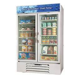 Beverage Air - MMRF49-1-WW-A-LED - 49 cu ft Dual Temp White Glass Door Merchandiser image
