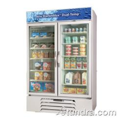 Beverage Air - MMRF72-1-W-LED - 75 in Dual Temp White Glass Door Merchandiser image
