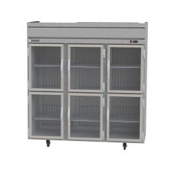 Beverage Air - HF3HC-1HG - 6 Glass 1/2 Door Horizon Series Reach-In Freezer image