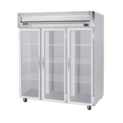 Beverage Air - HFPS3HC-1G - 3 Glass Door Horizon Series Reach-in Freezer image