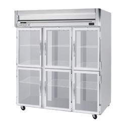 Beverage Air - HFPS3HC-1HG - 6 Glass 1/2-Door Horizon Series Reach-in Freezer image