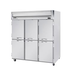 Beverage Air - HFPS3HC-1HS - 6 Solid 1/2-Door Horizon Series Reach-in Freezer image