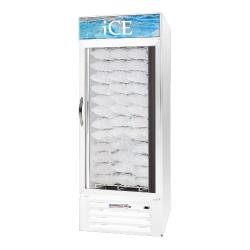 Beverage Air - MMF27-1-W-ICE-LED - 27 cu/ft White Single Door Ice Merchandiser with LED Display image