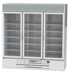 Beverage Air - MMF72-5-W-LED - 72 cu ft White 3 Door MarketMax Frozen Merchandiser image
