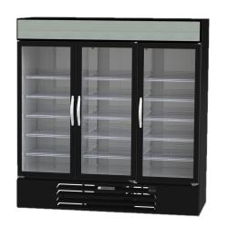 Beverage Air - MMF72HC-5-B - 75 in 3-Door Black MarketMax™ Frozen Merchandiser image