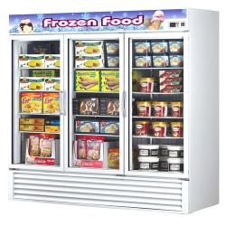Turbo Air - TGF-72F - Glass Door Freezer w/ 3 Swing Doors image