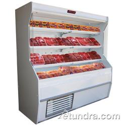 "Howard McCray - SC-M32E-4-LS - 50"" x 72"" White Meat Merchandiser image"