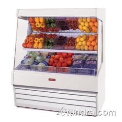 "Howard McCray - SC-OP30E-8L-LS - 99"" x 60"" White Produce Merchandiser image"