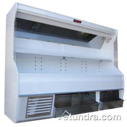 "Howard McCray - SC-P32E-8S-BINS - 98"" x 72"" White Produce Merchandiser w/2 Bins image"