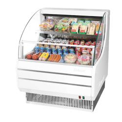 Turbo Air - TOM-30LW-N - 28 in White Low-Profile Open-Display Merchandiser image