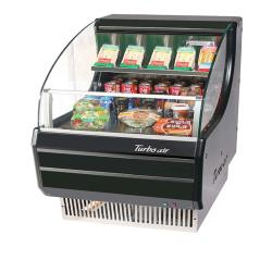 Turbo Air - TOM-30SB - 30 in Black Slim Line Open Display Merchandiser image
