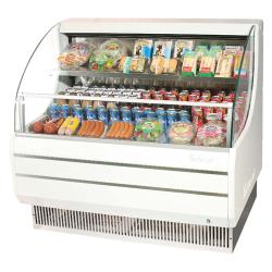 Turbo Air - TOM-50L - White 51 in Low Profile Open Display Merchandiser image