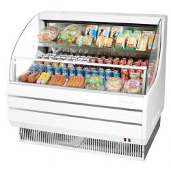 Turbo Air - TOM-50LW-N - 51 in White Low-Profile Open-Display Merchandiser image