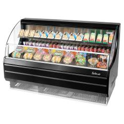 Turbo Air - TOM-60LB-N - 60 in Black Low-Profile Open-Display Merchandiser image