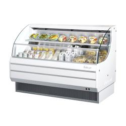 Turbo Air - TOM-60LW-N - 60 in White Low-Profile Open-Display Merchandiser image