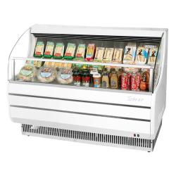 Turbo Air - TOM-60S - 60 in White Slim Line Open Display Merchandiser image