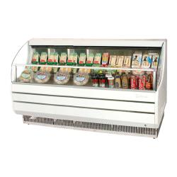 Turbo Air - TOM-75S - 75 in White Slim Line Open Display Merchandiser image