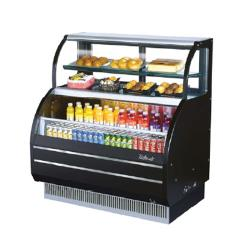 Turbo Air - TOM-W-60SB - 60 in Black Dual Zone Refrigerated Display Case image