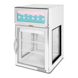 Beverage Air - CRD5GE-1W-GS - 22 in S/S Countertop Refrigerator w/ Glass Ends image