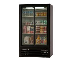 Beverage Air - LV17-1-B-54-LED - 36 in Lumavue™ Merchandiser Pass Thru  with Sliding Doors image