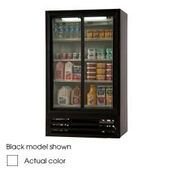 Beverage Air - LV17-1-W-54-LED - 36 in Lumavue™ Merchandiser Pass Thru with Sliding Doors image