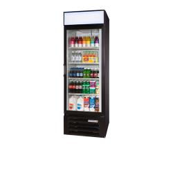 Beverage Air - LV23HC-1-B - 23 cu ft Black 1 Hinged Door LumaVue™ Merchandiser image