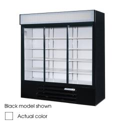 Beverage Air - LV66Y-1-W-LED - 75 in Lumavue™ Merchandiser with LED & Sliding Doors image