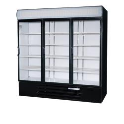 Beverage Air - LV72HC-1-B - 70 cu ft Black 3 Hinged Door LumaVue™ Merchandiser image