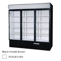 Beverage Air - LV72Y-1-W-LED - 75 in Lumavue™ Merchandiser with LED & Hinged Doors image