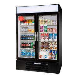 Beverage Air - MMR49HC-1-B - 49 cu ft Black 2 Door MarketMax Merchandiser Fridge image