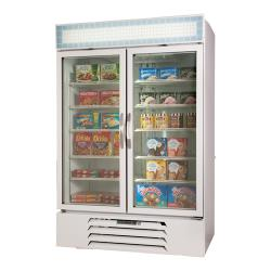 Beverage Air - MMR49HC-1-W - 49 cu ft White 2 Door MarketMax Merchandiser Fridge image